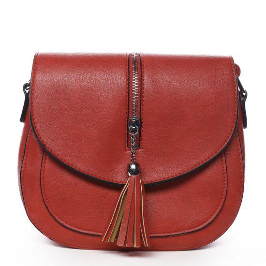 Romina & Co. Bags Stylová crossbody kabelka s třásněmi Federica, červená