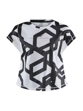 Craft Focus Boxy otroška majica, 146, črna/bela