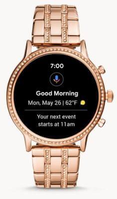 Chytré hodinky Fossil Gen5 Julianna HR, bezkontaktní platby NFC Google Pay, reproduktor, mikrofon, telefonování, volání