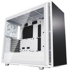 Fractal Design Define S2 Tempered Glass, Midi ATX ohišje z oknom, belo