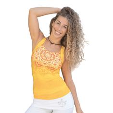 The Spirit of OM Top na jógu z bio bavlny - žlutý Velikost: L