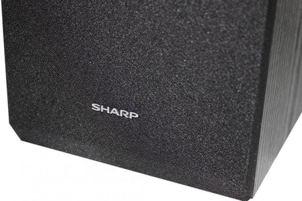 mikrosystém sharp xl-b510 elegantní nadčasový design Bluetooth dosah 10 m usb port 3,5mm jack vstup fm pll tuner 10 předvoleb ekvalizér 40w výkon dřevěné reprobedny v sadě lcd displej s bílým podsvícením dálkové ovládání