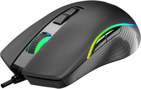 Herní myš Yenkee YMS 3027 Shadow (YMS 3027) pro praváky vysoká citlivost optický senzor