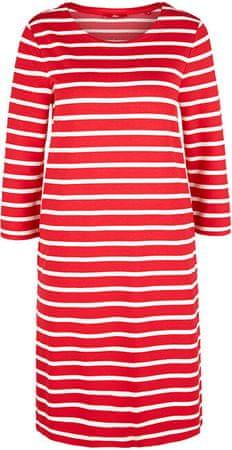 s.Oliver Női ruha .31G9 Vibrant coral stripes (méret 36)