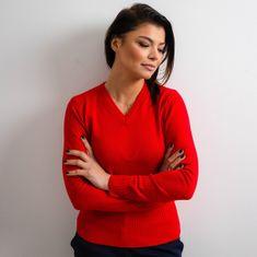 Willsoor Dámský svetřík Willsoor 5144 v červené barvě