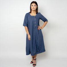 Willsoor Lněné šaty tmavě modré barvy 10790