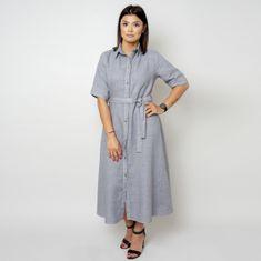Willsoor Dlouhé šaty šedé barvy 10789