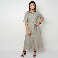 Willsoor Dlouhé šaty v barvě khaki 10788