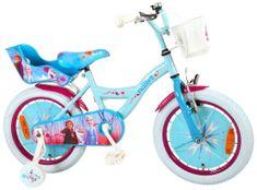 """Volare Detský bicykel pre dievčatá FROZEN II - modrý-ružový, 16"""" - zložený na 95 %"""
