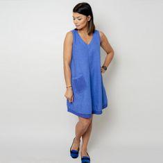 Willsoor Krátké modré šaty s kapsičkou 10797