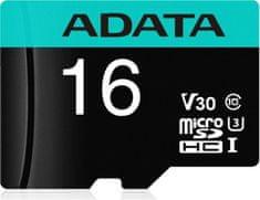 Adata MicroSDHC 16GB U3 V30S + adaptér (AUSDH16GUI3V30SA2-RA1)
