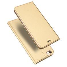 Dux Ducis Skin Pro knížkové kožené pouzdro pro iPhone 6s / 6, zlaté