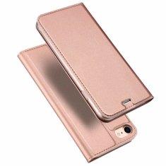 Dux Ducis Skin Pro knížkové kožené pouzdro pro iPhone 7/8/SE 2020, růžové