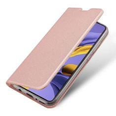 Dux Ducis Skin Pro knížkové kožené pouzdro pro Samsung Galaxy A71, růžové