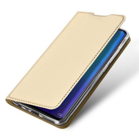 Dux Ducis Skin Pro usnjeni flip ovitek za Huawei P30, zlato