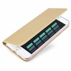 Dux Ducis Skin Pro knižkové kožené puzdro na iPhone 7/8/SE 2020, zlaté