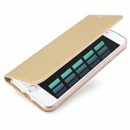 Dux Ducis Skin Pro bőr könyvtok iPhone 7/8/SE 2020, arany
