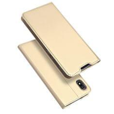 Dux Ducis Skin Pro knížkové kožené pouzdro pro Samsung Galaxy A10, zlaté