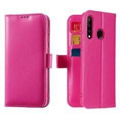 Dux Ducis Kado bőr könyvtok Huawei P30 Lite, rózsaszín