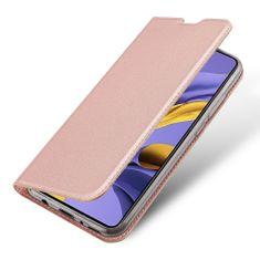 Dux Ducis Skin Pro knížkové kožené pouzdro na Samsung Galaxy A51, růžové