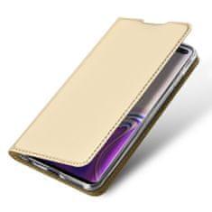 Dux Ducis Skin Pro knížkové kožené pouzdro pro Samsung Galaxy S10 Plus, zlaté
