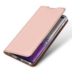 Dux Ducis Skin Pro knížkové kožené pouzdro pro Samsung Galaxy S10 Plus, růžové