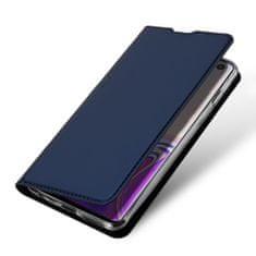 Dux Ducis Skin Pro knížkové kožené pouzdro na Samsung Galaxy S10, modré