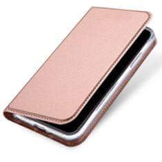 Dux Ducis Skin Pro usnjeni flip ovitek za iPhone X/XS, roza