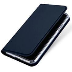 Dux Ducis Skin Pro knížkové kožené pouzdro pro iPhone XS / X, modré