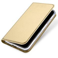 Dux Ducis Skin Pro knížkové kožené pouzdro pro iPhone X/XS, zlaté