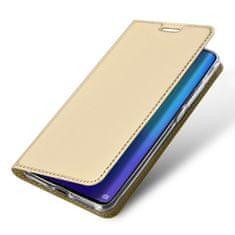 Dux Ducis Skin Pro knížkové kožené pouzdro pro Huawei P30 Pro, zlaté