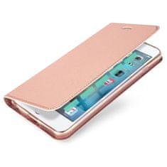 Dux Ducis Skin Pro knížkové kožené pouzdro pro iPhone 5/5S/SE, růžové