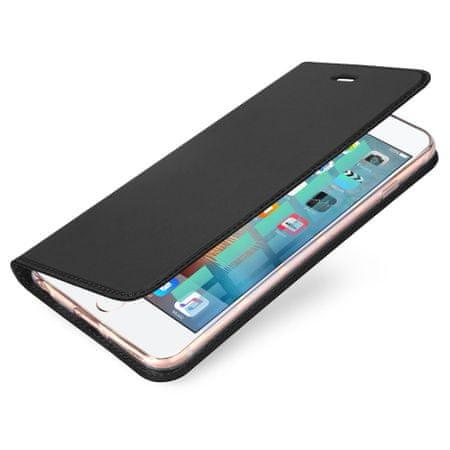 Dux Ducis Skin Pro bőr könyvtok iPhone 5/5S/SE, szürke
