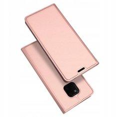 Dux Ducis Skin Pro bőr könyvtok Huawei Mate 20 Pro, rózsaszín