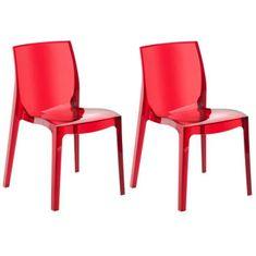 Up On zahradní židle, červená - 2 ks