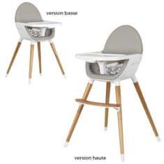 Tanuki ergonomická vysoká židle, bílá/dřevo