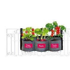Kitchen Gardening závěsný zahradní květináč, šedá