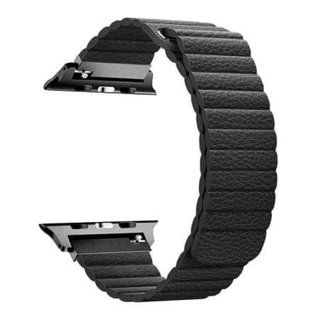 BStrap Apple Watch Leather Loop 42/44mm pašček, Black