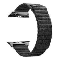 BStrap Apple Watch Leather Loop 42/44mm remienok, Black