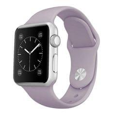 BStrap Apple Watch Soft Silicone 38/40mm szíj, Light Purple