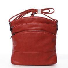 Romina & Co. Bags Praktická dámská crossbody se zipy Isidore červená