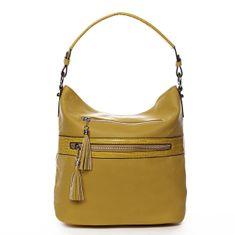 Romina & Co. Bags Jemná dámská pohodlná kabelka Baptiste žlutá