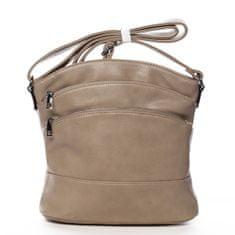 Romina & Co. Bags Praktická dámská crossbody se zipy Isidore zemitá