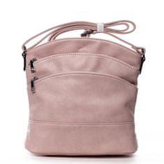 Romina & Co. Bags Praktická dámská crossbody se zipy Isidore růžová