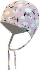 Yetty czapka dziecięca wiązana - bociany