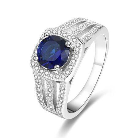 Beneto Srebrny pierścionek z niebieskim kryształem AGG326 (obwód 52 mm) srebro 925/1000