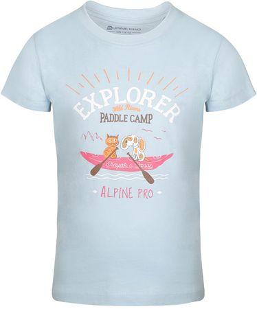 ALPINE PRO AXISO 3 dječja majica, 92 - 98, svijetlo plava