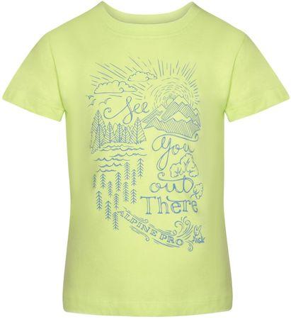 ALPINE PRO Koszulka chłopięca MATTERO 2128 - 134, zielona