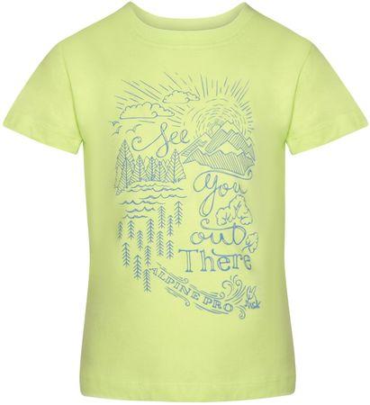 ALPINE PRO Koszulka chłopięca MATTERO 2140 - 146, zielona