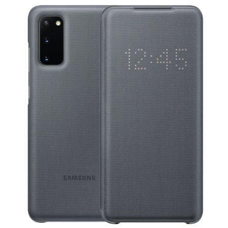 Samsung LED View preklopna torbica za Samsung Galaxy S20, siva (EF-NG980PJE)